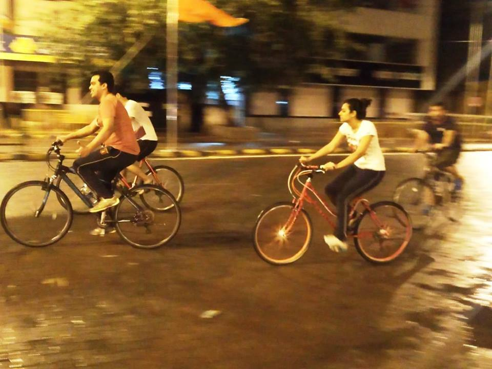 Night cycling Mumbai