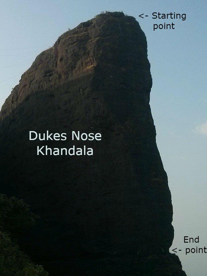 Dukes Nose Khandala rappeling