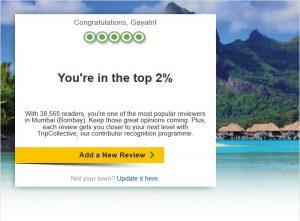 Tripadvisor top 2%