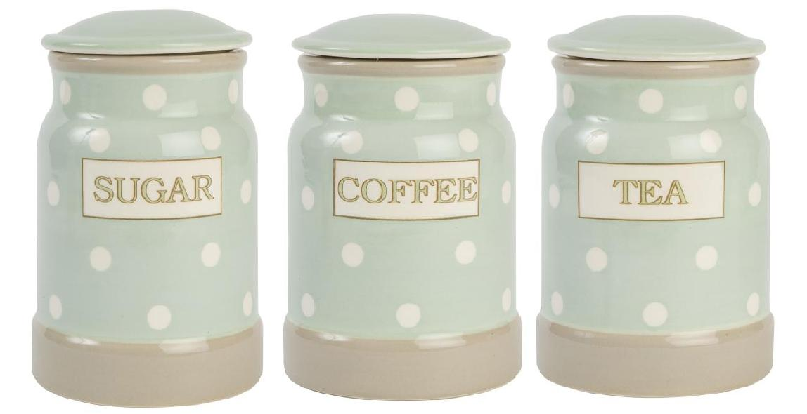 Tea coffee & sugar canisters
