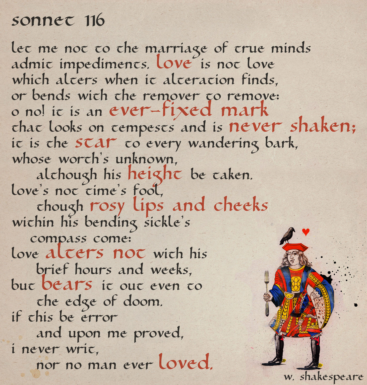 the definition of love in william shakespeares sonnet 116 and raymond carvers what we talk about whe Search the history of over 325 billion web pages on the internet.